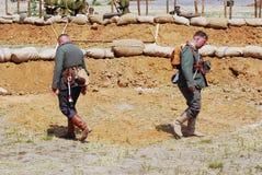 German soldiers-reenactors Royalty Free Stock Images