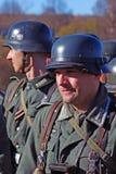 German soldiers-reenactors Stock Image