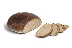 German sour dough bread and slices Stock Photography