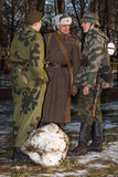 German and Soviet military personnel of WW2. Stock Photo