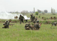 German and soviet soldiers of WW2 combat Royalty Free Stock Image