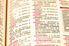German spanish dictionary Royalty Free Stock Photos