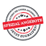 German special offer business label Royalty Free Stock Image