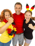 German sports fans Royalty Free Stock Image