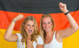 German sports fans Royalty Free Stock Photo