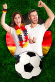 German sports fans Royalty Free Stock Photography
