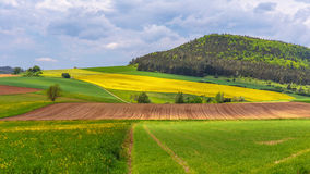 German Spring Countryside Landscape Stock Photography