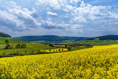 German Spring Countryside Landscape Stock Photo