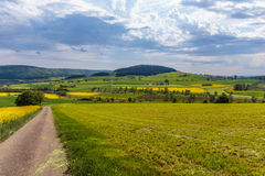 German Spring Countryside Landscape Royalty Free Stock Images