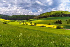 German Spring Countryside Landscape Royalty Free Stock Photo