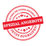 German stamp - Special offer! Enjoy our offer! Royalty Free Stock Image