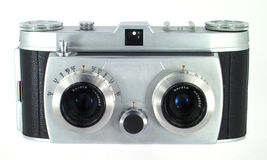 German stereo camera. High quality stereo-camera from the fifties stock photos