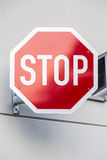 German stop sign on a concrete wall Royalty Free Stock Photos
