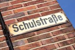 German street name Royalty Free Stock Photos
