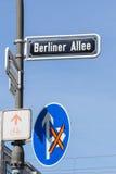German street signs Stock Photos