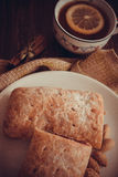 German strudel with cherry Stock Photography