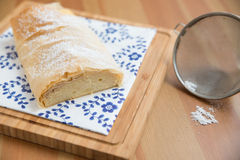 German Strudel with cream cheese Stock Photography