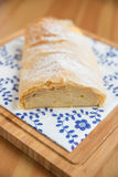 German Strudel with cream cheese Royalty Free Stock Image