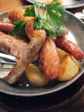German style assorted sausages. Assorted sausage in German cuisine Stock Photography