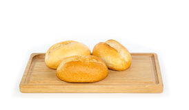 German style bread rolls on a breakfast tray Royalty Free Stock Images