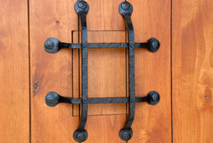 German style front door peep hole Stock Images