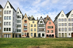 German-style houses in Cologne, Germany. German-style houses in the central part of Cologne, Germany Royalty Free Stock Photos