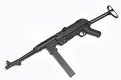 German submachine gun. MP40. German at WWII. MP40 submachine gun. Usually used by Wehrmacht squad leader or submachine gun company supporting tank attacks Stock Images