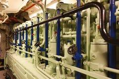 German submarine - diesel engine Stock Image