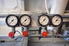 German submarine - electric engine room Stock Photos