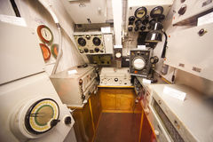 German submarine - sonar compartment Stock Photos