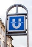 German subway sign Stock Photography