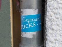 German sucks Stock Image