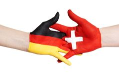 German-swiss partnership Stock Image