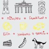 German symbol icon seamless pattern. German symbol line icon seamless pattern Royalty Free Stock Photography