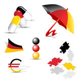 German symbols, signs and icons Stock Photos