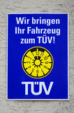 German TÜV plate Royalty Free Stock Photo