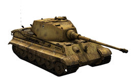 German Tank 'King Tiger'. Render of the German Tiger Tank 2 'King Tiger' Ausf. B  on a white background Royalty Free Stock Photography