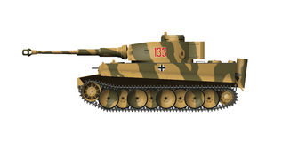 German tank Tiger Stock Photography