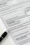 German tax. Form ready to be filled in Royalty Free Stock Photos