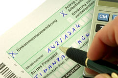 German tax. Form waiting to be completed Royalty Free Stock Image