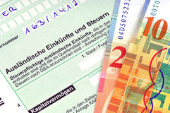 German tax. Form waiting to be completed Stock Photography