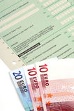 German tax. Form waiting to be completed Royalty Free Stock Photography