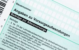 German tax form Royalty Free Stock Image