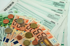 German tax forms 2009 Stock Images