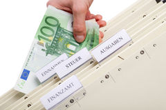 German Taxform. A file folder to survive the german tax system Stock Photos
