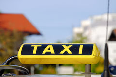 German Taxi. Sign with copy space above it Royalty Free Stock Images