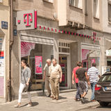German Telekom Shop Royalty Free Stock Photography