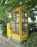 Vintage German Telephone Booth Royalty Free Stock Photo