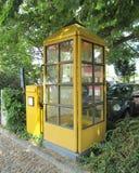 Vintage German Telephone Booth. BREISACH-AM- RHEIN, GERMANY, JULY 24: A vintage public telephone booth in Breisach-am-Rhein on July 24th 2013 Royalty Free Stock Photo