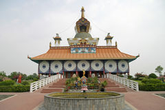 German temple in Lumbini stock photography